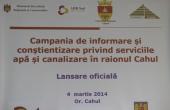 Campania de informare și conștientizare privind serviciile de apă şi canalizare în raionul Cahul